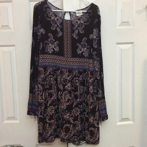 Knox Rose Paisley & mixed print  XXL lined Dress